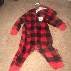 Baby 6months black and red winter suit